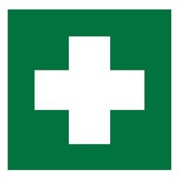 Знак EC01 Аптечка первой медицинской помощи •ГОСТ 12.4.026-2015• (Пленка 100 х 100)