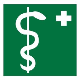 Знак EC05 Медицинский кабинет (Пленка 300 X 300)