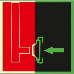 Знак F08 Пожарный  сухотрубный стояк (Фотолюминесцентный Пленка 200 x 200) Т1