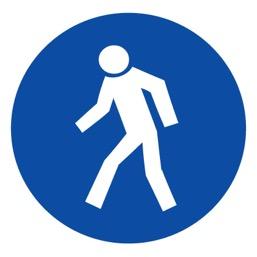 Знак M10 Проход здесь •ГОСТ 12.4.026-2015• (Пластик 200 х 200)