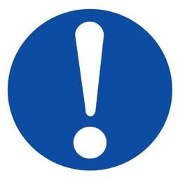 Знак M11 Общий предписывающий знак •ГОСТ 12.4.026-2015• (Пластик 200 х 200)