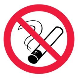 Знак P01 Запрещается курить •ГОСТ 12.4.026-2015• (Пленка 200 х 200)