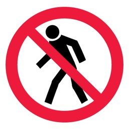Знак P03 Проход запрещен •ГОСТ 12.4.026-2015• (Пленка 200 х 200)