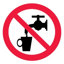 Знак P05 Запрещается использовать в качестве питьевой воды •ГОСТ 12.4.026-2015• (Пленка 200 х 200)
