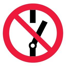 Знак P10 Не включать! •ГОСТ 12.4.026-2015• (Пленка 200 х 200)