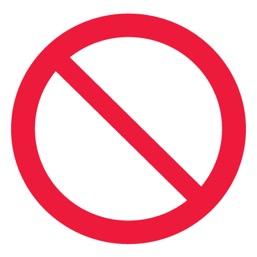 Знак P21 Запрещение (прочие опасности или опасные действия) •ГОСТ 12.4.026-2015• (Пластик 200 х 200)