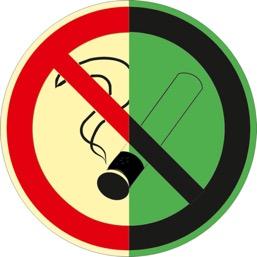 Знак P01 Запрещается курить (Фотолюминесцентный Пленка 200 x 200) Т1