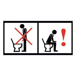 Знак T776 Правила пользования туалетом - по маленькому (Пленка 100 х 200)