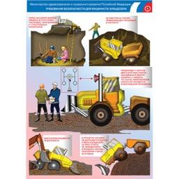 """Плакат """"Требования безопасности для машиниста бульдозера"""" - к-т из 2 л."""