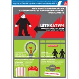 """Плакат """"Безопасность при производстве отделочных работ"""" - к-т из 7 л."""