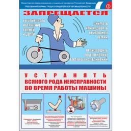 """Плакат """"Безопасность труда. Кондитерская промышленность"""" - к-т из 3 л."""