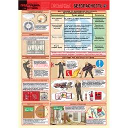 """Плакат """"Пожарная безопасность"""" - к-т из 2 л."""