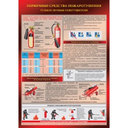 """Плакат """"Углекислотный огнетушитель"""" - 1 л."""