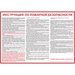 """Плакат """"Инструкция по пожарной безопасности для общественных зданий"""" - 1 л."""