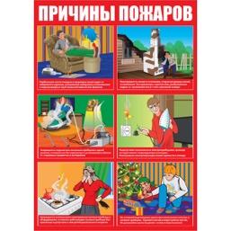 """Плакат """"Причины пожаров"""" - 1 л."""