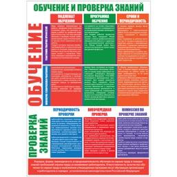 """Плакат """"Организация обучения по охране труда"""" - к-т из 2 л."""