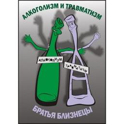"""Плакат """"Алкоголизм и травматизм - братья близнецы!"""" - 1 л."""