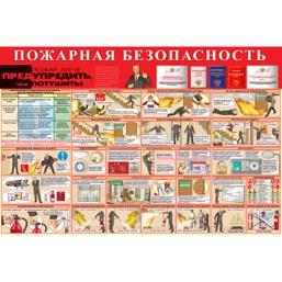 """Стенд """"Пожарная безопасность СТ018 (Пластик 1000 x 1500)"""""""