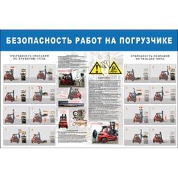 "Стенд ""Безопасность работ на погрузчике СТ046 (Пленка 1000 x 1500)"""