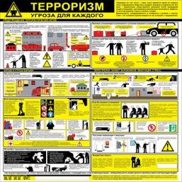 """Стенд """"Терроризм-угроза для каждого СТ062  (Пластик 1000 x 1000)"""""""