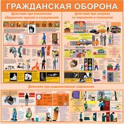 """Стенд """"Гражданская оборона СТ068  (Баннер 1000 x 1000)"""""""