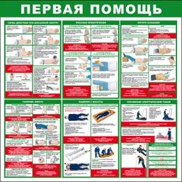 """Стенд """"Первая помощь СТ189 (Пленка 1000 x 1000)"""""""