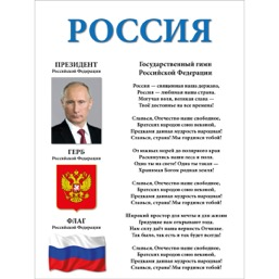 "Стенд ""Россия СТ777 (Пластик 1000 х 750)"""