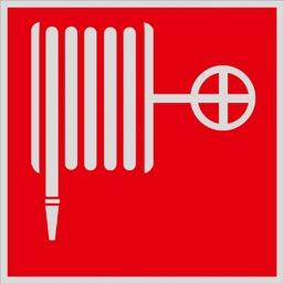 Знак F02 Пожарный кран •ГОСТ 12.4.026-2015• (Световозвращающий Пленка 200 x 200)