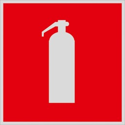 Знак F04 Огнетушитель •ГОСТ 12.4.026-2015• (Световозвращающий Пленка 200 x 200)