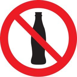 Знак T905 Вход с напитками запрещен (Пленка 200 х 200)