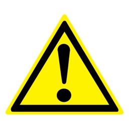 Знак W09 Внимание! Опасность (прочие опасности) •ГОСТ 12.4.026-2015• (Пластик 200 х 200)