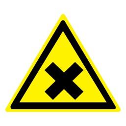 Знак W18 Осторожно! Вредные для здоровья аллергические (раздражающие) вещества •ГОСТ 12.4.026-2015• (Пленка 200 х 200)