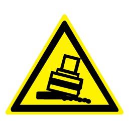 Знак W24 Осторожно! Возможно опрокидывание •ГОСТ 12.4.026-2015• (Пленка 200 х 200)