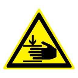 Знак W27 Осторожно! Возможно травмирование рук (Пленка 250 X 250)