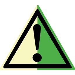 Знак W09 Внимание! Опасность (прочие опасности) (Фотолюминесцентный Пластик 200 x 200) Т2