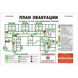 План эвакуации на самоклеящейся пленке (300 х 400)